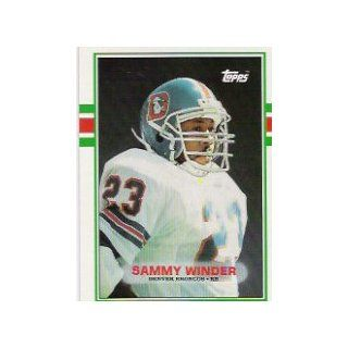 1989 Topps #243 Sammy Winder: Sports Collectibles