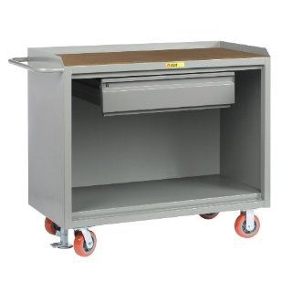 "Little Giant MH 2448 HDFL Heavy Duty Drawer Mobile Bench Cabinet with 1/4"" Hardboard Top, 3600 lbs Capacity, 48"" Length x 24"" Width x 41"" Height: Industrial & Scientific"