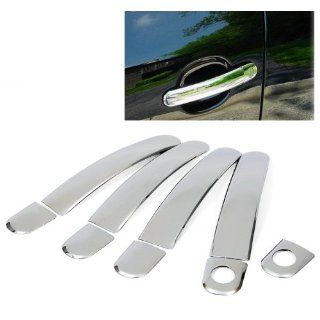 Triple Chrome Plated Side Door Handle Cover Trims 9Pcs For VW 1998 2005 Passat 1999 2004 VW Jetta/Bora 1999 2006 Lupo 1999 2007 Golf 2003 2007 Polo Audi 1999 2006 TT 2000 2005 A2 Skoda 2002 2007 Superb 2001 2007 Octavia Seat 2004 2006 Altea 1997 2004 Arosa