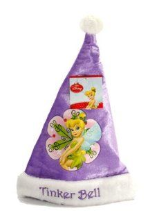 Kids 3 9 Disney Tinker Bell Velour Santa Christmas Hat: Clothing