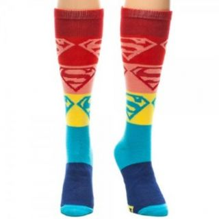 Superman Gradient Knee High Socks: Clothing