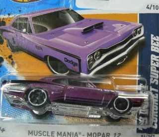 Hot Wheels Muscle Mania Mopar '12 4/10 Purple '69 Dodge Coronet Super Bee Collector #84/247 on Short Card: Toys & Games