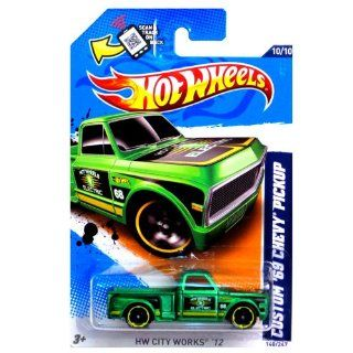 """2012 Hot Wheels HW City Works Custom '69 Chevy Pickup 10/10   140/247.: Toys & Games"