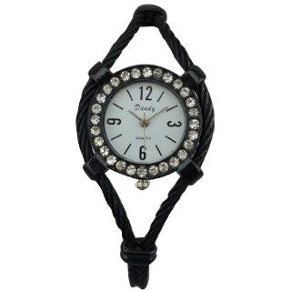 New Fashion Women's Bangle Wrist Watch Quartz Black WTH0215: Watches