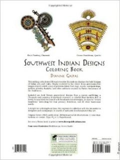 Southwest Indian Designs Coloring Book (Dover Design Coloring Books): Dianne Gaspas: 9780486430423: Books