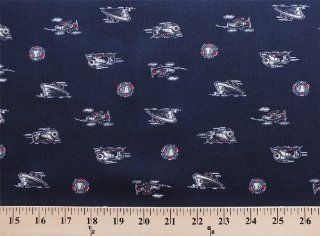 Oshkosh Land Air Sea Cotton Twill Overall Boat Train Plane Fabric Print D252.06