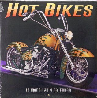 "~ STUDIO18 ~ 2014   16 Month Wall Calendar 12"" x 12""   HOT BIKES  : Everything Else"
