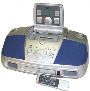 Curtis RCD253 Portable CD, Cassette, Radio with Pop Out Control Panel and Digital Tuning  Players & Accessories