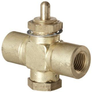 "Kingston 259 Series Brass Quick Opening Flow Control Valve, Pin Handle, 1/4"" NPT Female Industrial Control Valves Industrial & Scientific"