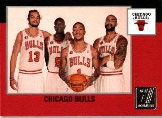 2010 / 2011 Donruss # 268 Chicago Bulls Team Checklist Card  In Protective Screwdown Case: Sports Collectibles