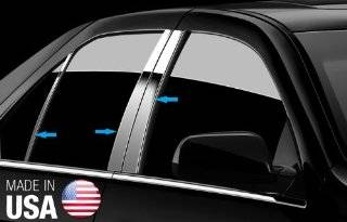 Made in USA! Fit 2007 2013 Toyota Camry Stainless Steel Door Pillar Posts Chrome Cover Window Trim 6pc: Automotive