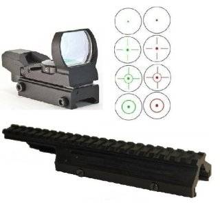 Ultimate Arms Gear Tactical FN FAL / LAR / L1 A1 Rifle Deluxe Weaver Picatinny Rail Scope Sight Dust Cover Replacement Mount + CQB 4 Reticle Dual Red / Green Open Reflex Sight with Weaver Picatinny Rail Mount   Combo Combination Package Kit Set  Gun Stock
