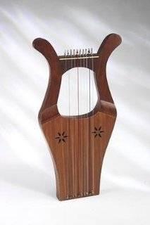 EMS Mitre King David Kinnor Harp, 10 Strings Musical Instruments