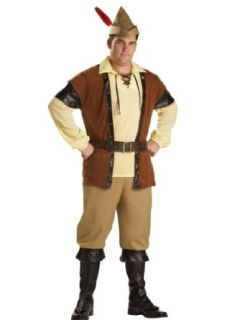 Robin Hood Costume Adventure Action Hero Compete Theatrical Mens Costume Sizes XX Large Clothing