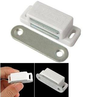 "Cabinet Door Hardware White Base 1.8"" Long Single Magnetic Catch"