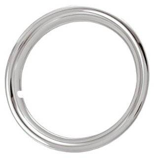 """17"""" Chrome Plated STainless Steel Beauty Steel Wheel Trim Rings 17 x 6 1 3/4 Deep Set of Four Automotive"""
