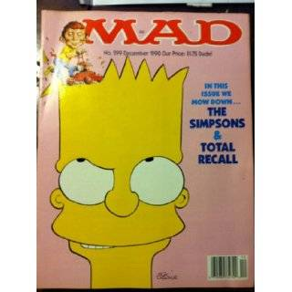 Mad Magazine No. 299 The Simpsons & Total Recall: Alfred E. Newman: Books
