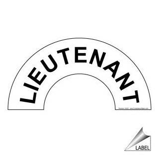 Lieutenant Label NHE 19225 Hard Hat / Helmet Labels  Message Boards