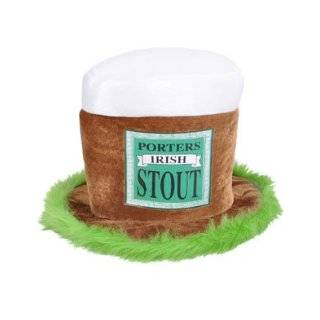 St Patricks Day Porters Irish Stout Beer Top Hat Cap Clothing