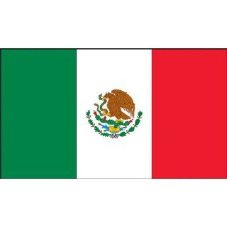 "Accuform Signs LHTL694 Reflective Adhesive Vinyl Mexico Flag Hard Hat/Helmet Safety Label, 1"" Width x 1 3/4"" Length, Green/Red on White (Pack of 5) Industrial & Scientific"