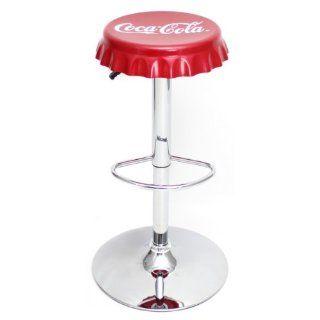 LumiSource Coca Cola Bottle Cap Bar Stool   Barstools Without Backs