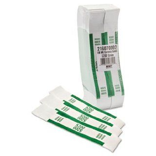 Self Adhesive Currency Straps, Green, $200 in Dollar Bills, 1000 Bands/Box: Office Products