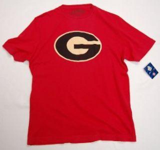 Georgia Bulldogs Retro Vintage Logo T Shirt By Red Jacket University (Medium, Red) at  Men�s Clothing store