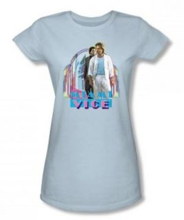 Miami Vice   Miami Heat Juniors T Shirt In Light Blue Clothing