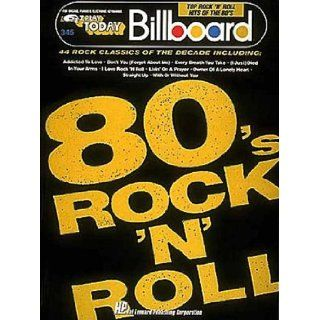 Billboard Top Rock 'n' Roll Hits Of The '80s (EZ Play Today Series, No. 345) For Organs, Pianos & Electronic Keyboards Various 0073999022476 Books