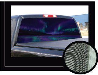"""AURORA�22"""" x 65""""   Rear Window Graphic   back truck decal suv view thru vinyl Automotive"""