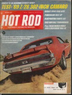 HOT ROD Mercury Eliminator Cale Yarborough Dyno Tune Kits Ford 351 1 1969 Collectibles & Fine Art