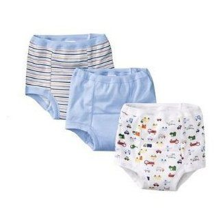 Gerber Three Pack Training Pants Blue, Striped, & Cars 3T (32 352lbs.) Baby