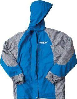 Fly Racing Pit Jacket , Distinct Name Black/Blue, Size XL, Primary Color Black, Gender Mens/Unisex 354 6051X Automotive