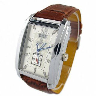 Youyoupifa Brown And Square Automatic Mechanical Movement Unisex's Watch: Watches