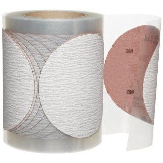 "3M 366L 100 Grit, 5"" x NH x 125 Aluminum Oxide Microfinishing PSA Film Type D Disc Red Roll: Industrial & Scientific"