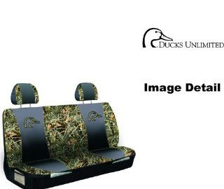 Ducks Unlimited Camo Max 4 Car Truck SUV Universal fit Rear Bench Seat Cover with Head Rest Covers Automotive