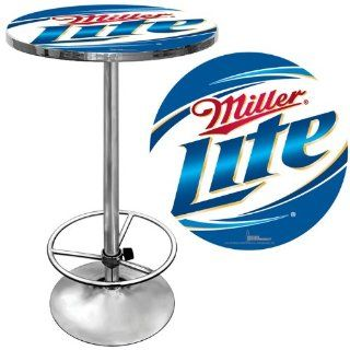 Miller Lite Pub Table   Game Room Products Pub Table Beer Logos: Sports & Outdoors