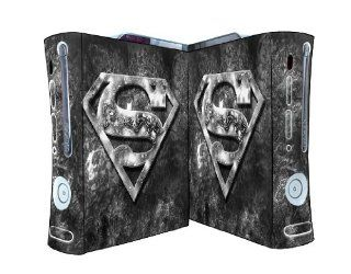 Bundle Monster Vinyl Skins Accessory For Xbox 360 Game Console   Cover Faceplate Protector Sticker Art Decal   Superman Video Games
