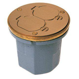 Raco 6224 18.5 Cubic Inch Round Wood Floor Box