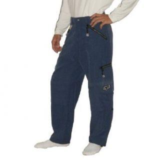 2 PIECE BONUS PACK FOX Mens Blue Waterproof Insulated Ski Snowboard / Snow Pants & Adidas Toque / Hat (Size 32/L) Clothing