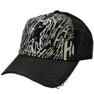 Batman DC Comics The Dark Knight Joker Heath Ledger Black Gray Velcro Hat Cap  Sports Fan Novelty Headwear  Sports & Outdoors