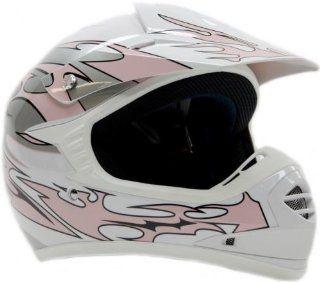 Youth Kids Offroad Helmet DOT Motocross ATV Dirt Bike MX Motorcycle Pink 394   Small Automotive