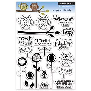 Penny Black Decorative Rubber Stamps, Bugsy and Owly
