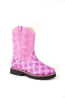 Roper Baby Girls' Glitter Flower Cowgirl Boot: Shoes
