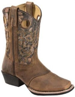 Red Ranch Boys' Camo Cowboy Boot Square Toe Brown US: Shoes
