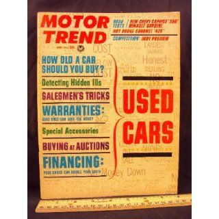 "1965 65 June MOTOR TREND Magazine (Features: Road Test on Chevy Caprice ""396"", Renault Gordini, & Dodge Coronet ""426"", + Indy Preview, & Salesmen's Tricks): Motor Trend: Books"