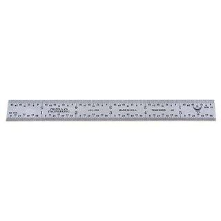 "PEC Rigid Steel Rule   Model: 402 036 Size: 36"" Width: 1 1/4"" Graduation: 4R   8ths,16ths,32nds,64ths: Industrial & Scientific"