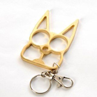 PARA Cat Self Defense Safety Keychain Key Ring Holder Gold : Self Defense Pepper Spray : Sports & Outdoors