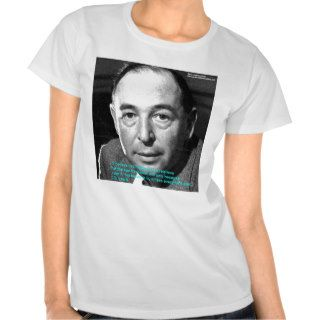 """CS Lewis """"Being Christian"""" Wisdom Quote Gifts T shirt"""