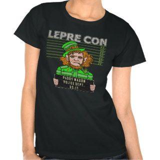 Funny Leprechaun Leprecon Mugshot Tee Shirts
